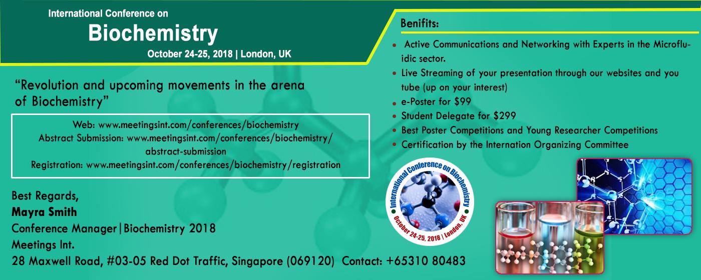 International Conference on Biochemistry