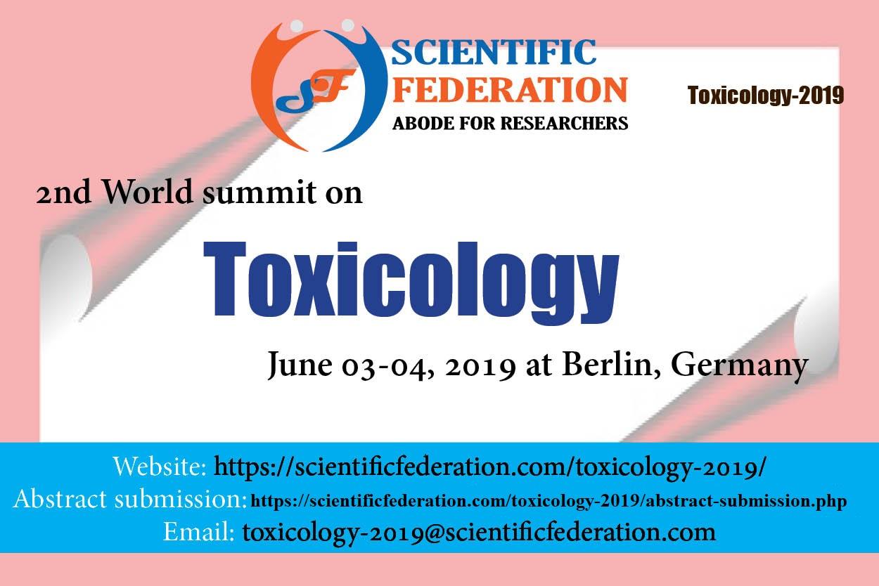 2nd World summit on Toxicology (Toxicology-2019)